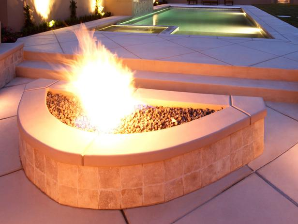 oval shaped fire pit in Backyard Landscaing Ideas-Attractive Fire Pit Designs Homesthetics