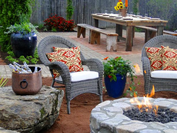 rustic fire pit design in Backyard Landscaing Ideas-Attractive Fire Pit Designs Homesthetics