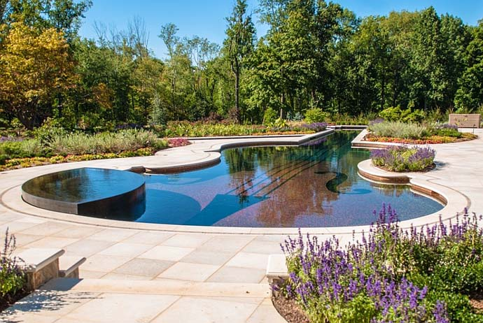 Backyard-Landscaping-Ideas-Swimming-Pool-Forged-as-a-Stradivarius-Violin design