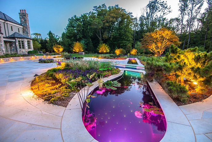 Backyard landscaping ideas swimming pool forged as a for Back garden swimming pool
