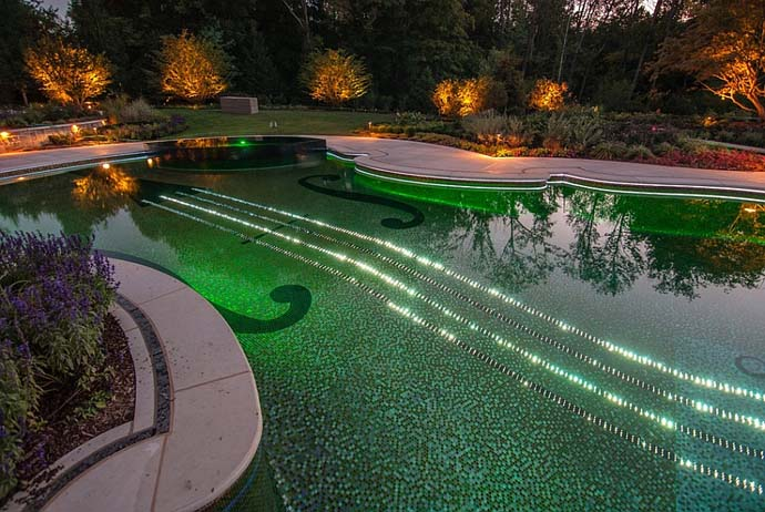 green Backyard-Landscaping-Ideas-Swimming-Pool-Forged-as-a-Stradivarius-Violin