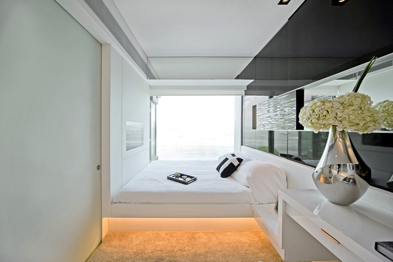 small bedroom design Black & White Dynamic Interior Design-Kindled Water Splashed on a Black Wall