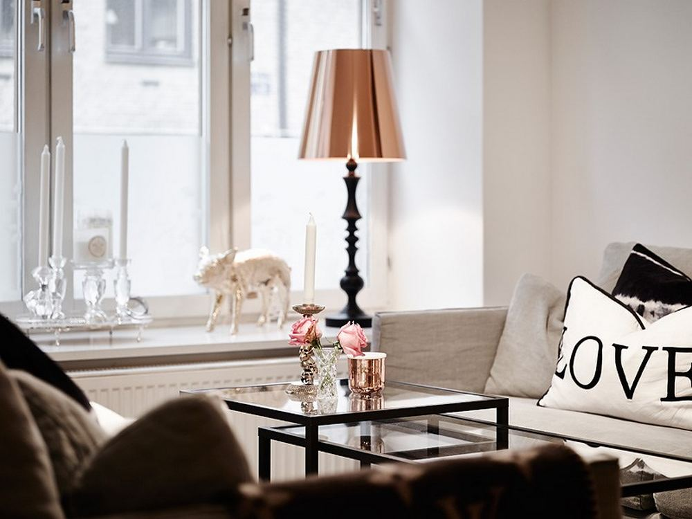 detail shot in the Black-and-White-Swedish-Apartment-Emphasizing-Small-Spaces-with-Elegance-with-Nobility-