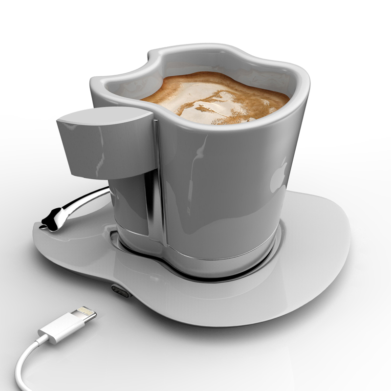 white Brand Loyalty to The Smallest Detail- Apple iCup Apple Concept