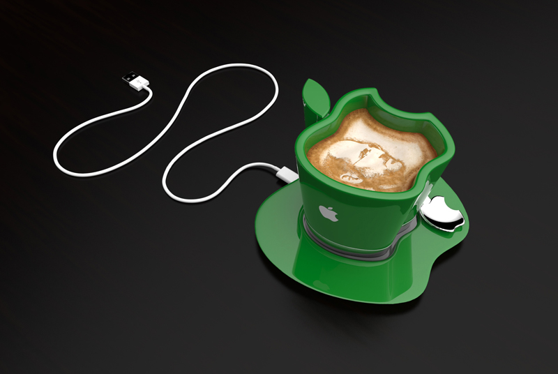 green cup Brand Loyalty to The Smallest Detail- Apple iCup Apple Concept