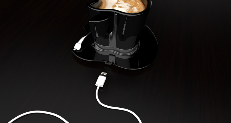 cable in the back Brand Loyalty to The Smallest Detail- Apple iCup Apple Concept