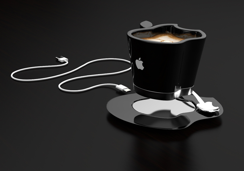 Brand Loyalty to The Smallest Detail- Apple iCup Apple Concept  black