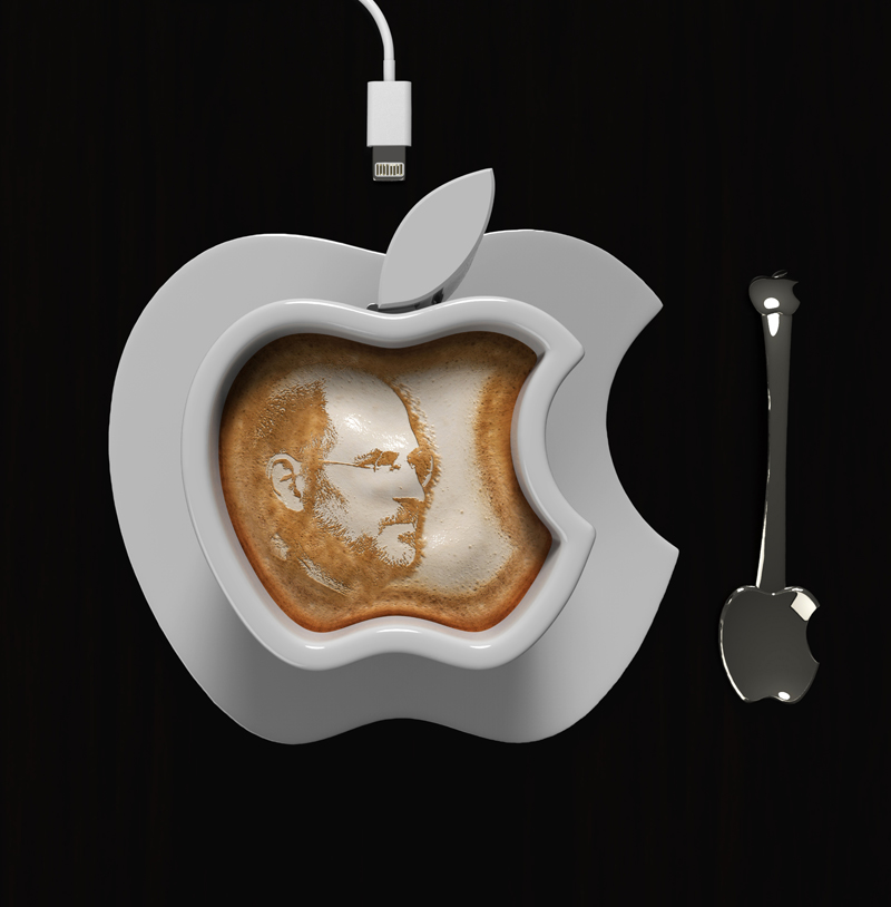 simple Brand Loyalty to The Smallest Detail- Apple iCup Apple Concept