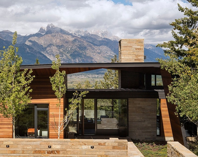 the main access in the Butte Residence- The Home and Studio of an Artist Enjoying Spectacular Panoramic Views in Wyoming