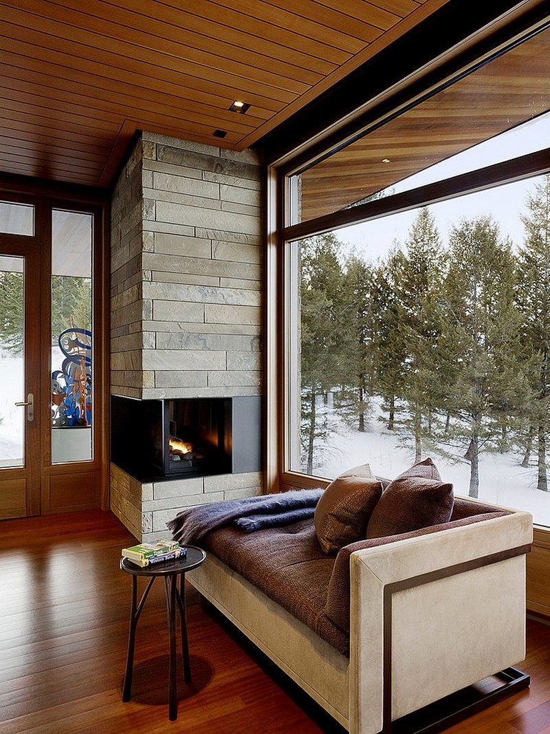 living room design Butte Residence- The Home and Studio of an Artist Enjoying Spectacular Panoramic Views in Wyoming