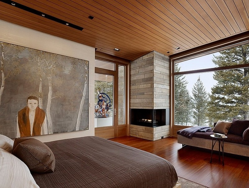 bedroom interior design Butte Residence- The Home and Studio of an Artist Enjoying Spectacular Panoramic Views in Wyoming