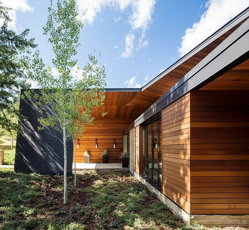 backyard landscaping ideas in Butte Residence- The Home and Studio of an Artist Enjoying Spectacular Panoramic Views in Wyoming