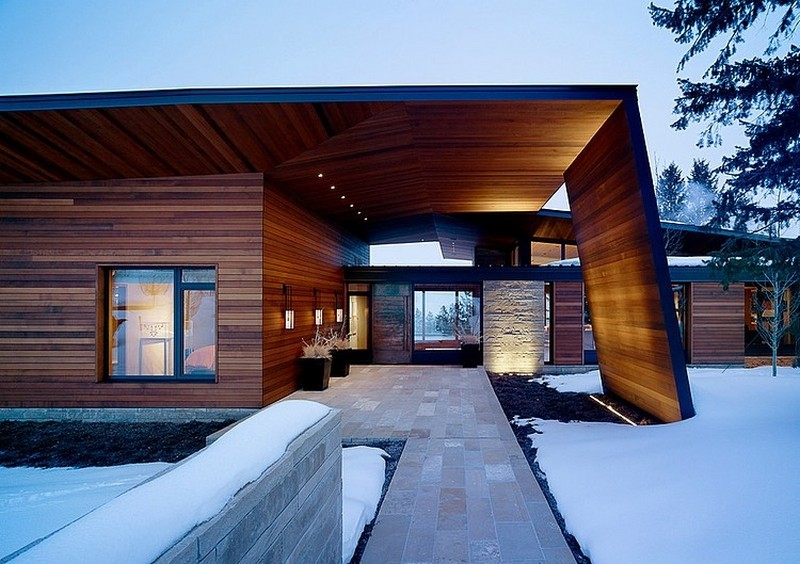 the covered access in the Butte Residence- The Home and Studio of an Artist Enjoying Spectacular Panoramic Views in Wyoming