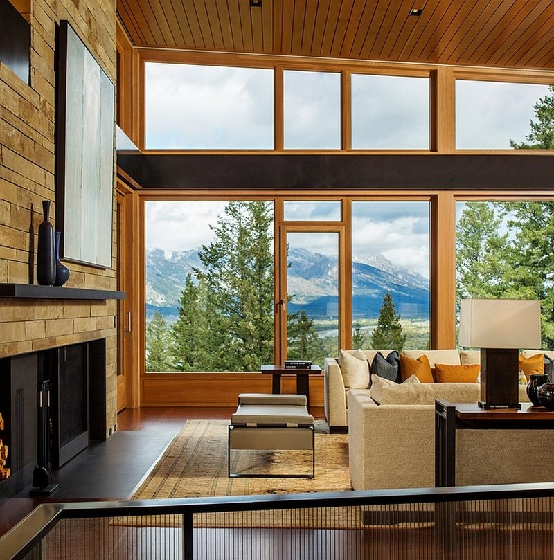 extraordinary living room interior design Butte Residence- The Home and Studio of an Artist Enjoying Spectacular Panoramic Views in Wyoming
