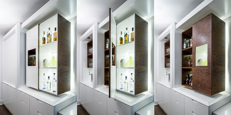 different ways of modulating Modern Small Kitchen Design Idea by MKCA Incorporates Versatility & Functionality
