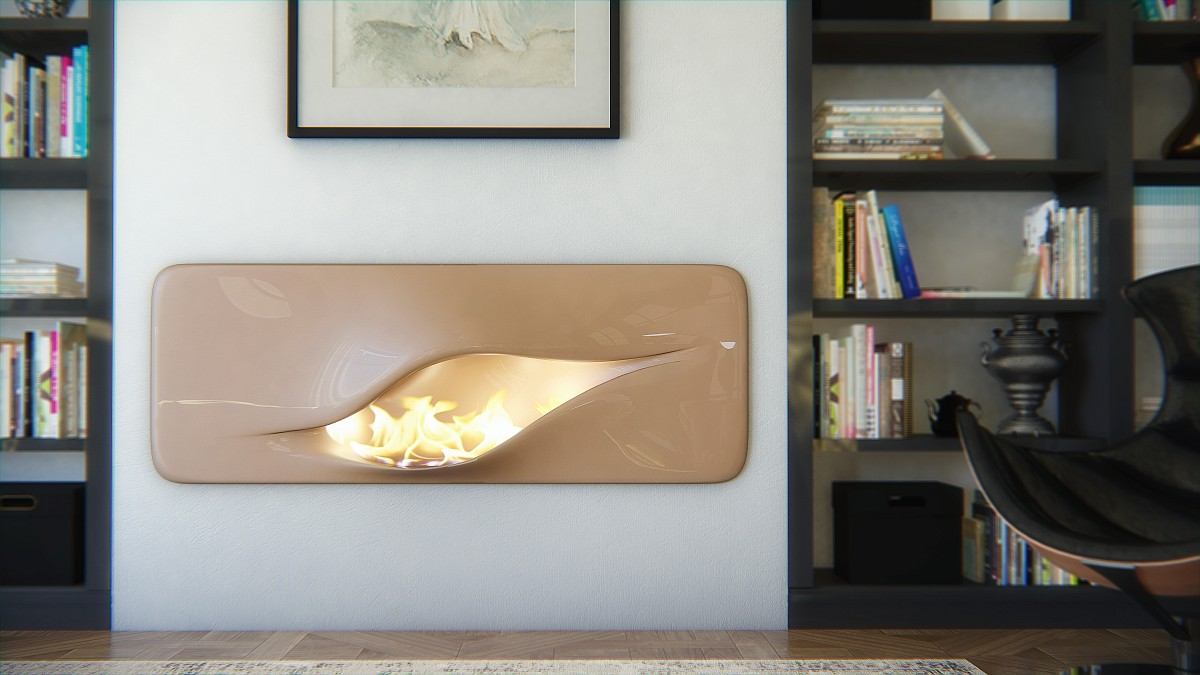 Organic Futuristic Contemporary Fireplace Design Mvtikka