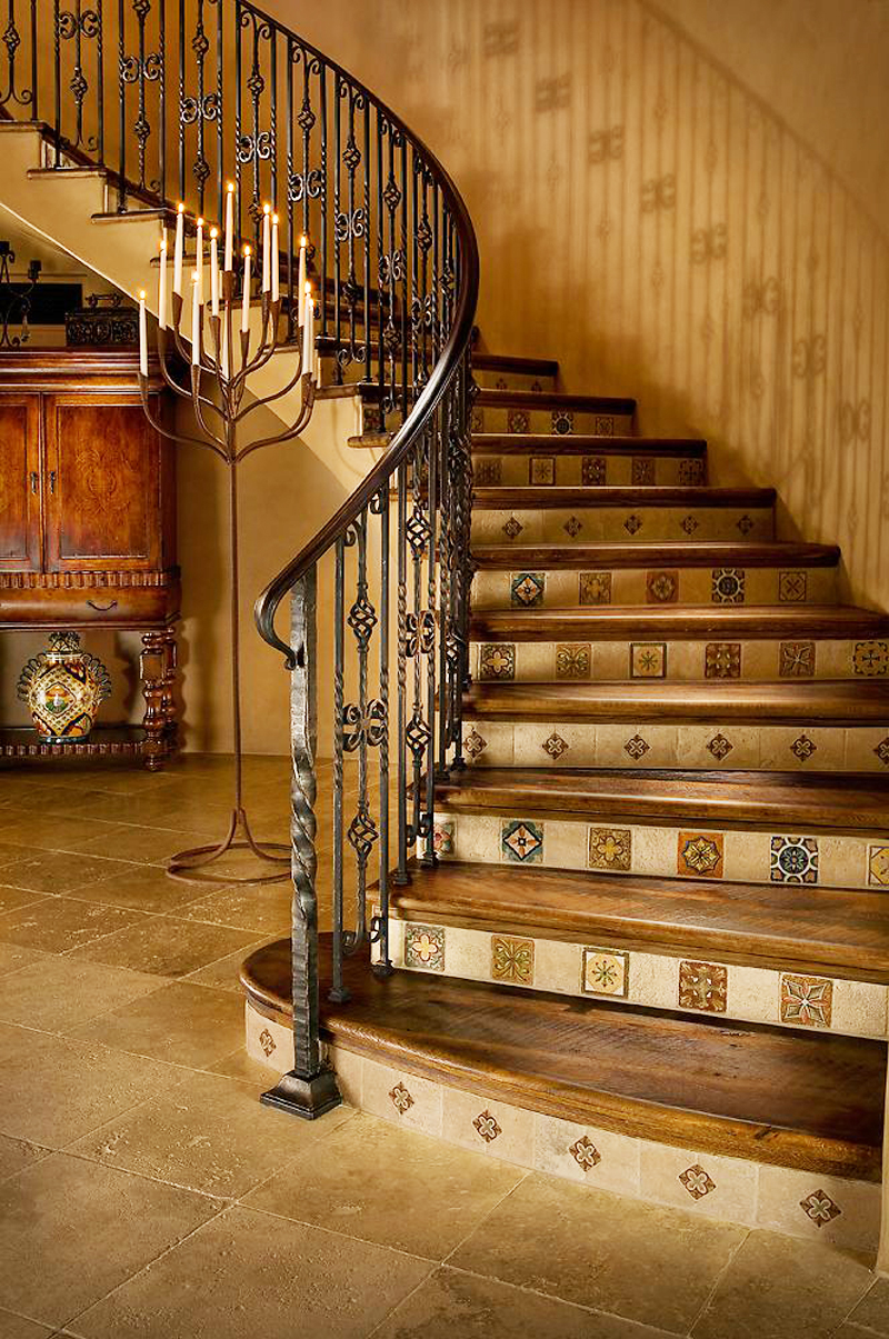 round staircase access to the Perfect Spot for Relaxation-Dream House Dominating the McDowell Mountain