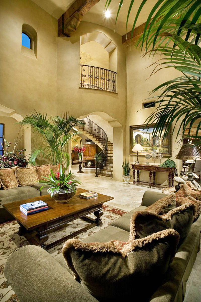 living room interior design Perfect Spot for Relaxation-Dream House Dominating the McDowell Mountain