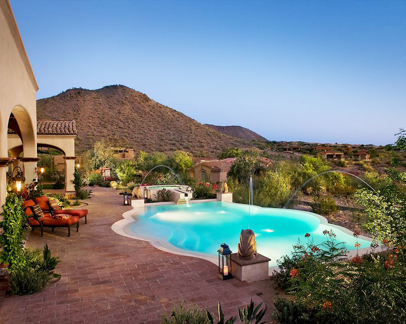 exterior backyard swimming pool with a view Perfect Spot for Relaxation-Dream House Dominating the McDowell Mountain