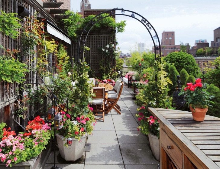 pergola designs featured in sky gardens One-Coffee-Table-Book-Reveals-New-York-City's-Breathtaking-Elaborate-Roftop-Gardens-Rooftop