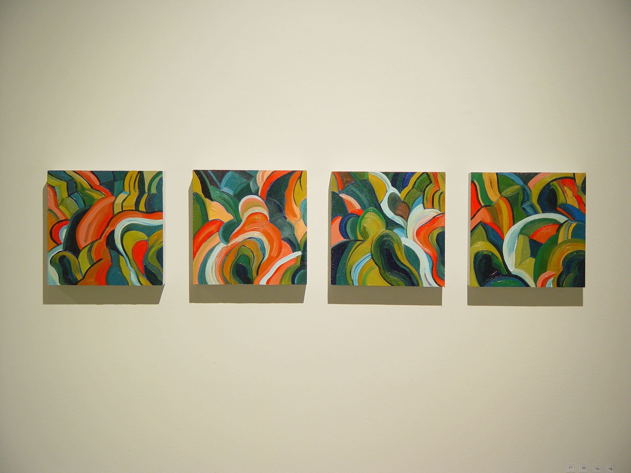 18,19,20,21Canyon River #1,2,3,4, homesthetics design paintings art