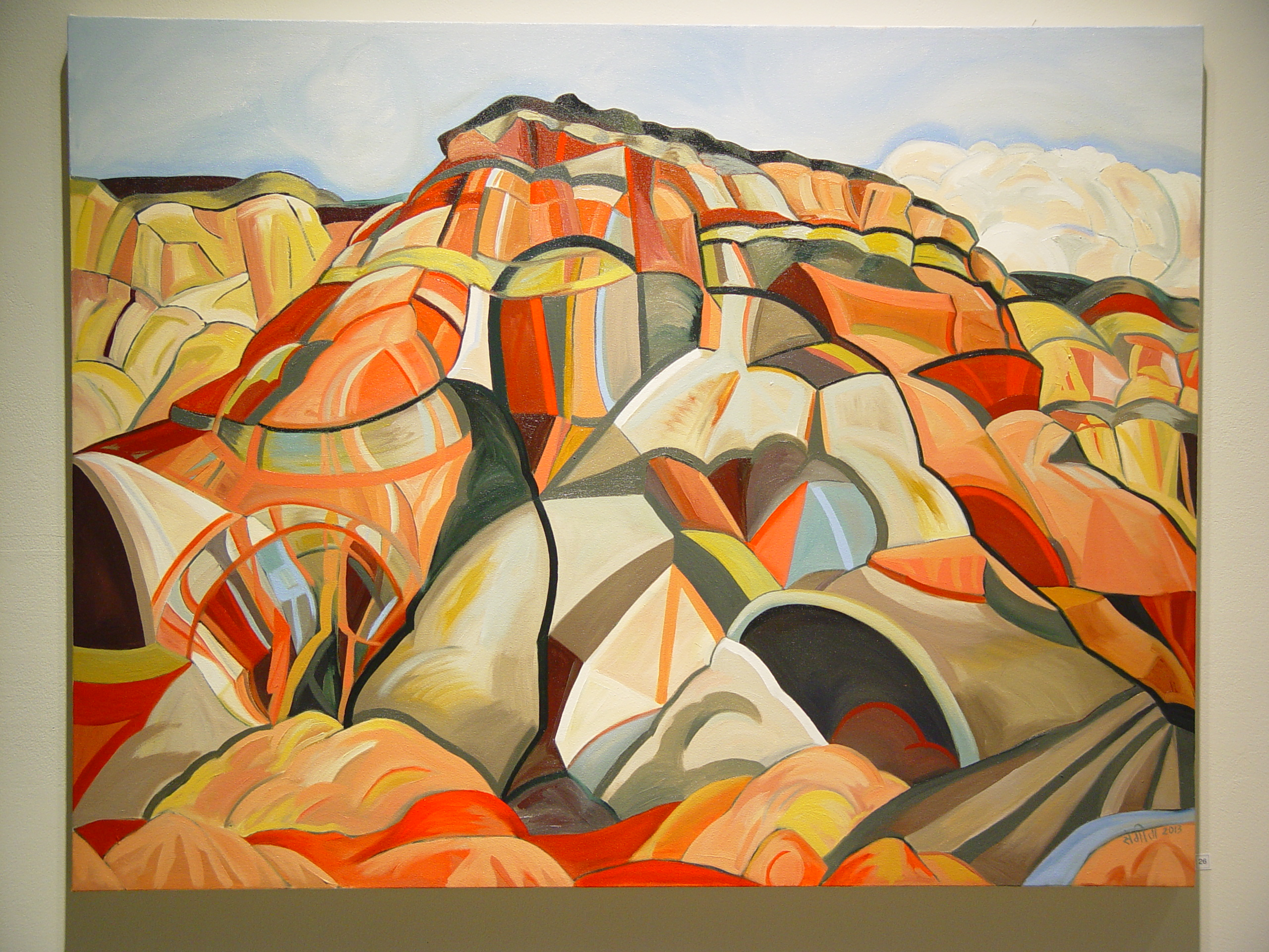 27. Burled Mountain, River, Sky, 2014