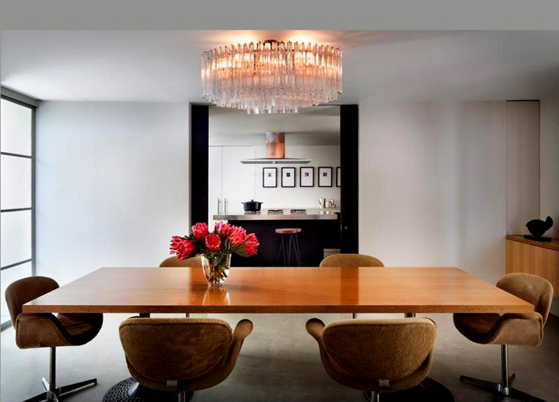 the dinning area of the Bridle Road House by Antonio Zaninovic Winning 2010 Honor Award from the American Society and Landscape Architects