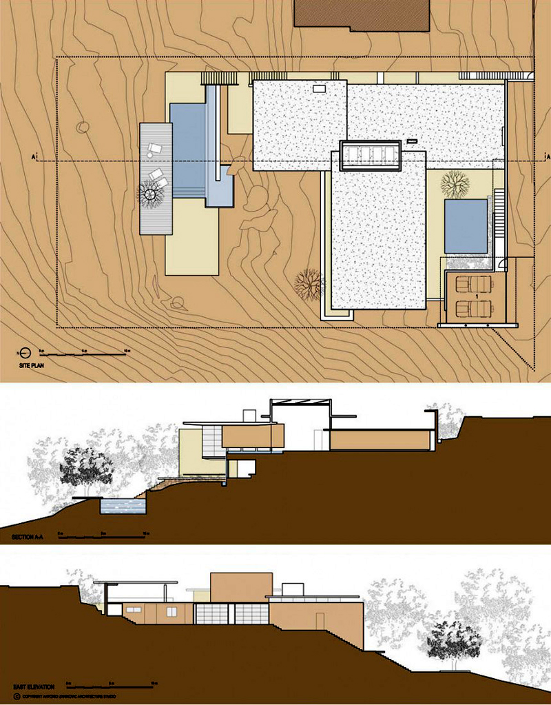 Bridle road house by antonio zaninovic winning 2010 honor award from blueprint floorplan section plane trough bridle road house by antonio zaninovic winning 2010 honor award from malvernweather Images