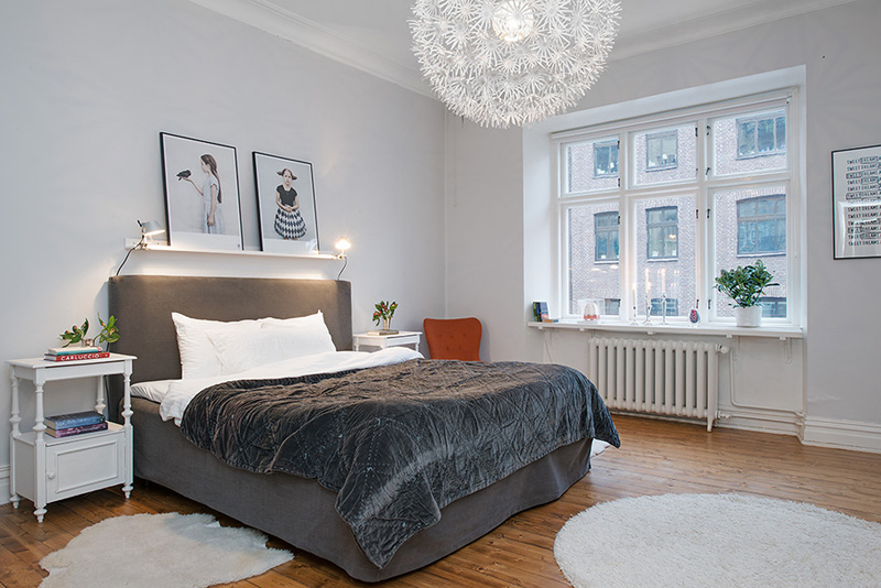 bedroom interior design Clean-Timeless-Beauty-Materiallized-in-Scandinavian-Interior-Design-with-a-Black-and-White-Theme