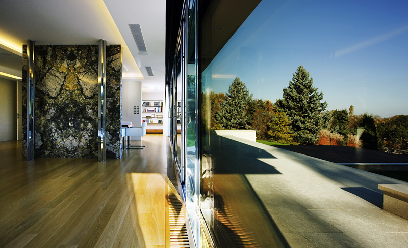 high end finishes and detail shot Cliff View Modern Mansion with High End Finshishes by Architema, Hungary