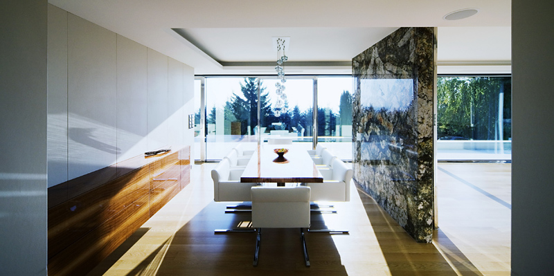 breathtaking Cliff View Modern Mansion with High End Finshishes by Architema, Hungary