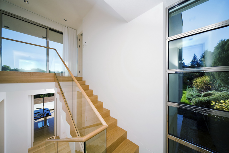 interior staircase Cliff View Modern Mansion with High End Finshishes by Architema, Hungary