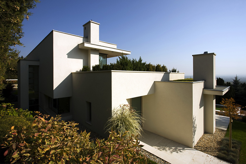 perspective view Cliff View Modern Mansion with High End Finshishes by Architema, Hungary