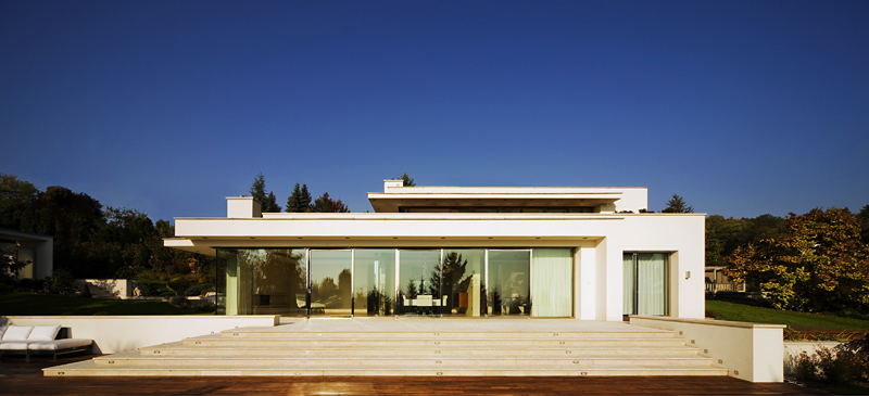 Cliff View Modern Mansion with High End Finshishes by Architema, Hungary