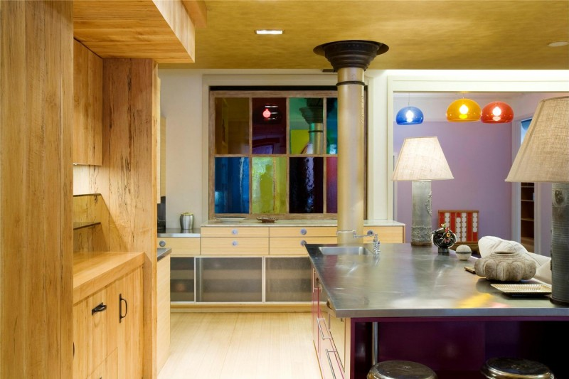 colorful kitchen design Colorful-Unusual-Elegant-Penthouse-Tribeca-Manhattan-New-York-City-homesthetics