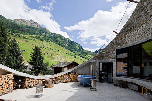 One of a Kind Architecture-The Underground Gateway by Christian Muller Architects in Vals, Swiss