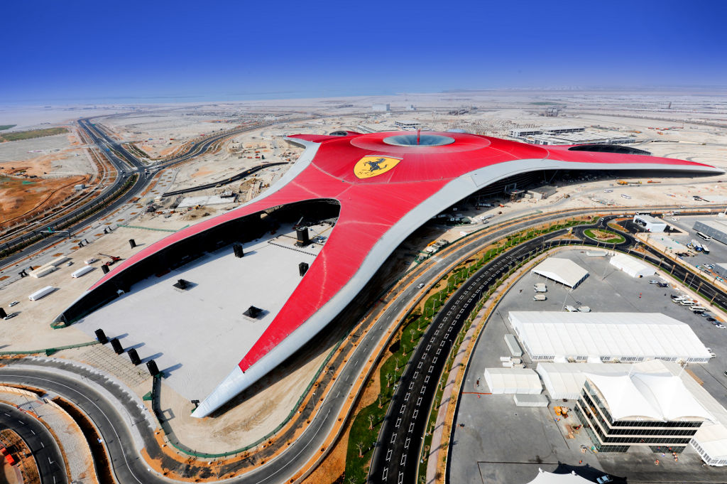 Out of the ordinary design the ferrari world in abu dhabi for Architectural design companies in abu dhabi