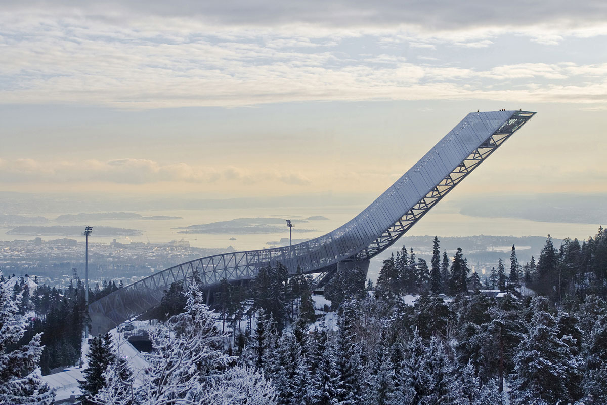 Remarkable Piece of Engineering-New Holmenkollen Ski Jump in Olso by Julian De Smedt Homesthetics