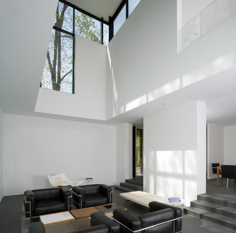 Shelter Flooded by Light in the Woods-Black White Residence by David ...
