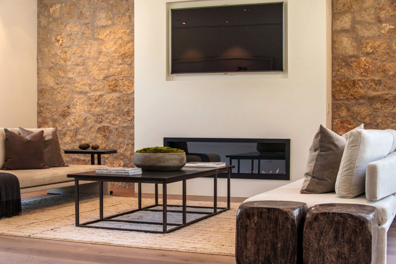 detail shot living room design Vegetation Offering Privacy in Contemporary Modern Mansions by Amit Apel Design sua california sheltering backyard landscaping ideas (1)