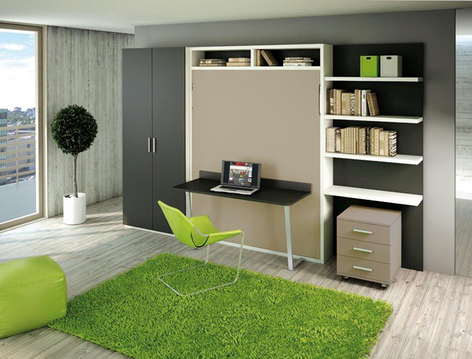 fresh green design -Cool-Inventive-Murphy-Beds-for-Decorating-Smaller-Rooms