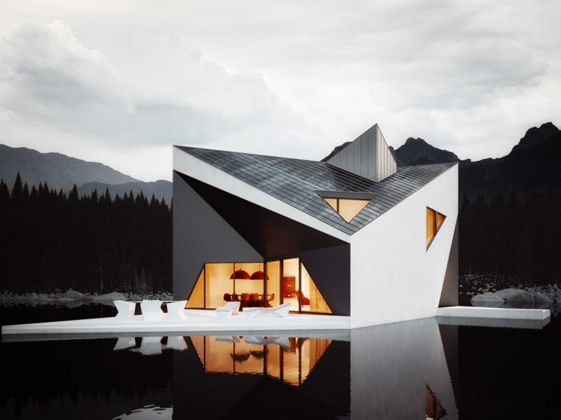 Bold Minimalist Design Concept The Crown House by 81.WAW .PL Homesthetics 4