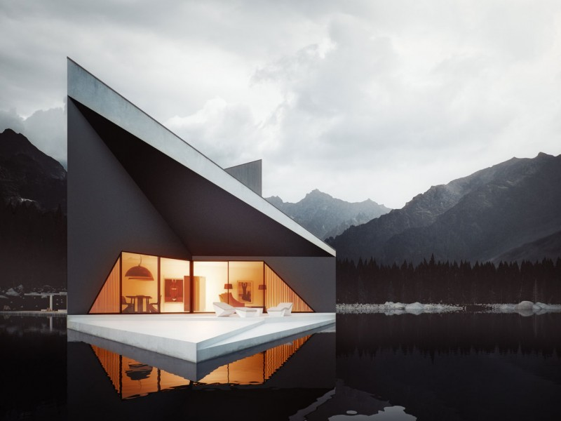 Bold Minimalist Design Concept-The Crown House by 81.WAW.PL Homesthetics (5)