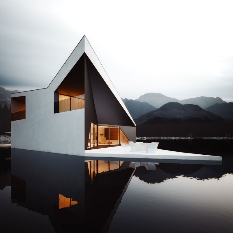 Bold Minimalist Design Concept-The Crown House by 81.WAW.PL Homesthetics (6)