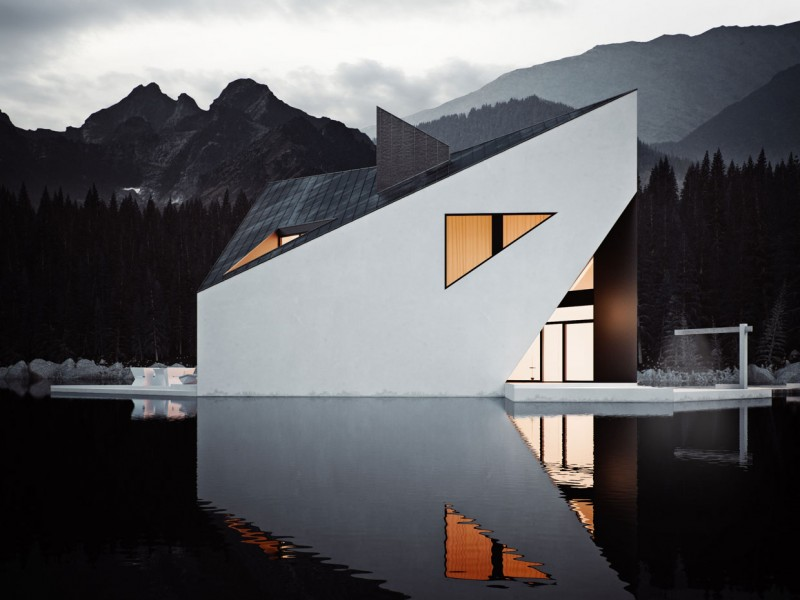 Bold Minimalist Design Concept-The Crown House by 81.WAW.PL Homesthetics (8)