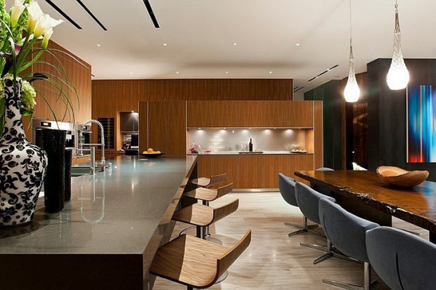 modern kitchen design Diamond Grill Design - Dream Residence in Las Vegas by Assemblage Studio