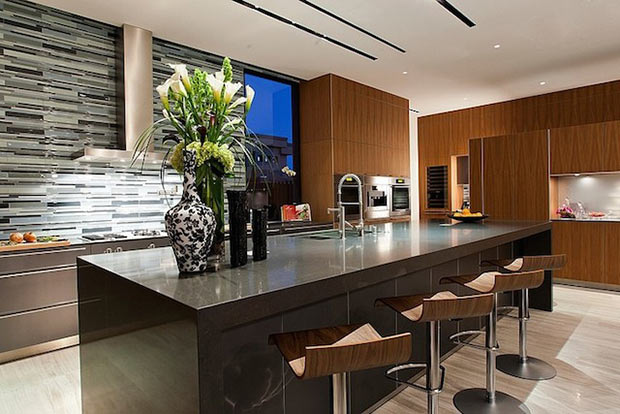 bar area in the Diamond Grill Design - Dream Residence in Las Vegas by Assemblage Studio