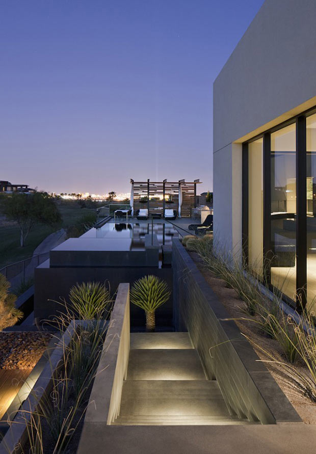 terrace and infinity swimming pool