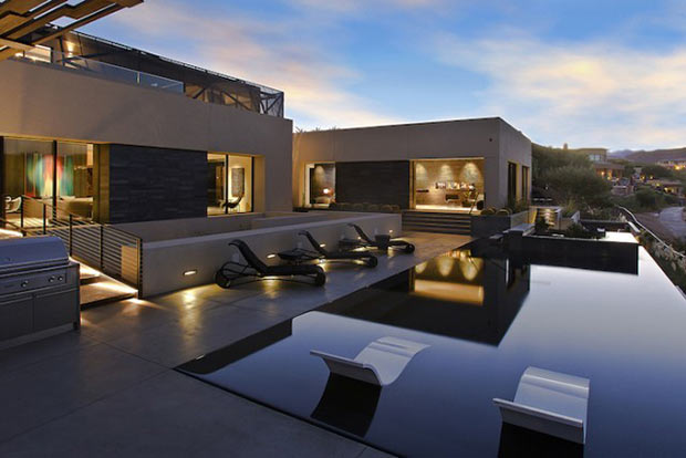 terrace area Diamond Grill Design - Dream Residence in Las Vegas by Assemblage Studio