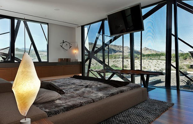 master bedroom interior design Diamond Grill Design - Dream Residence in Las Vegas by Assemblage Studio